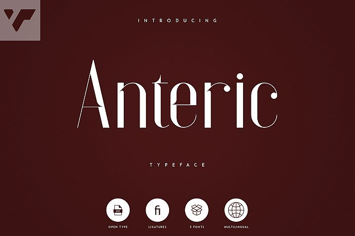 Anteric - Typeface | 3 weights