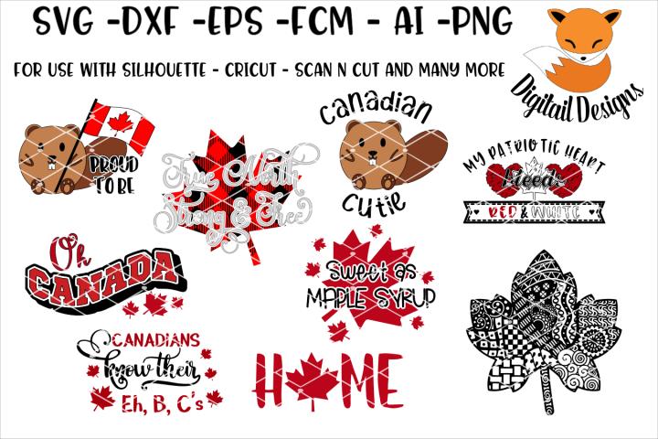 Canadian SVG Bundle - png - eps - dxf - ai - fcm - Canada SVG Bundle - Silhouette - Cricut - Scan N Cut - Canada SVG file