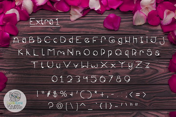 Smothered Rose Petals   A Cute Valentine Font Duo - Free Font Of The Week Design2