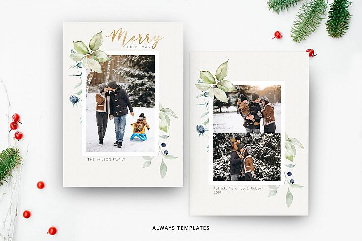 Christmas Card Template CC078