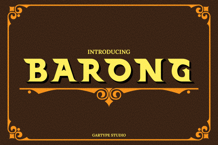 Barong Font and Bonus