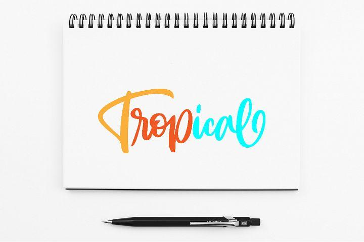 SVG - Tropical Handlettering