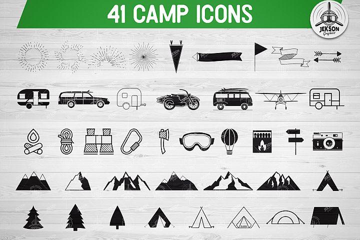 41 Camping SVG Bundle, Camp SVG Bundle, Camper Svg Pack Set