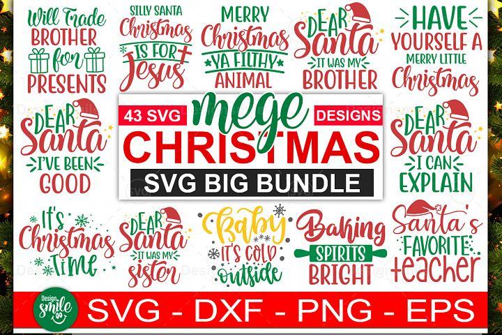 Mega Christmas SVG Big Bundle |43 Designs