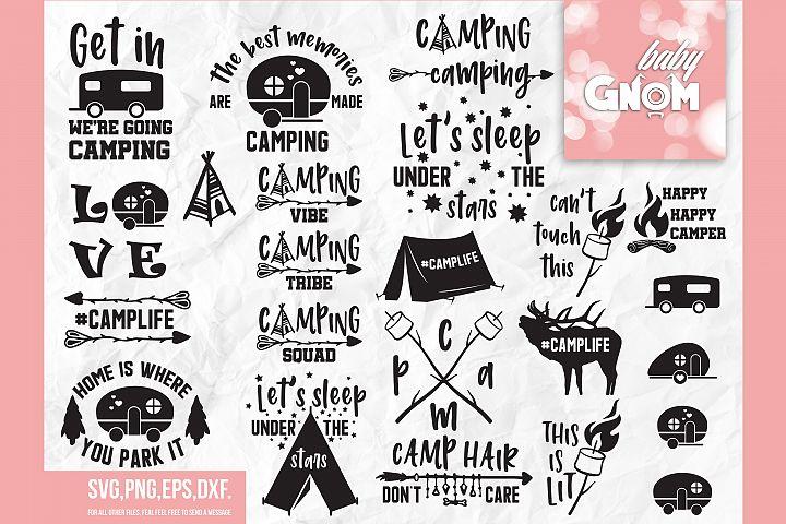 CAMP SVG bundle, camping svg, camp life svg, happy camper