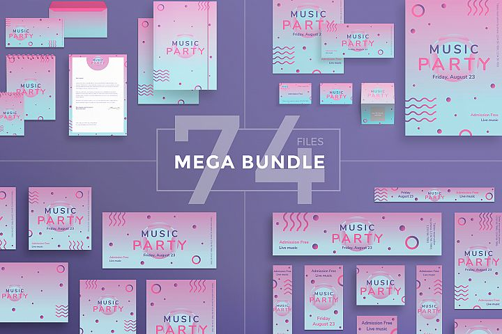 Music Party Design Templates Bundle
