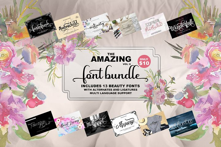 The Amazing Font Bundle - Vol II