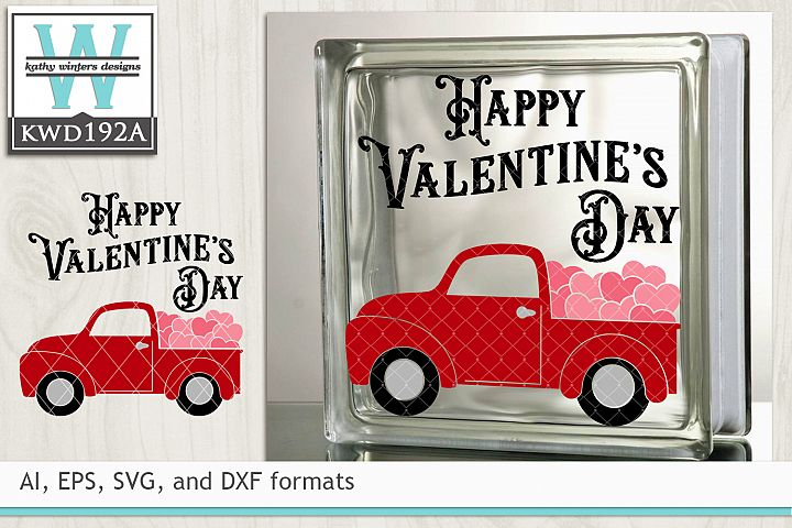 Valentines SVG - Vintage Red Truck