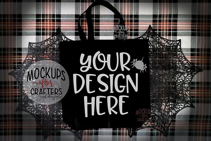 Halloween Treat Bag, Tote Bag, Mock-Up
