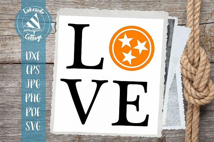 LOVE Rocky Top Tennessee - Go Big Orange TN Tristar svg dxf