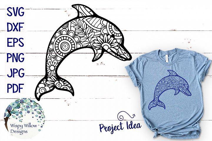 Dolphin Zentangle SVG
