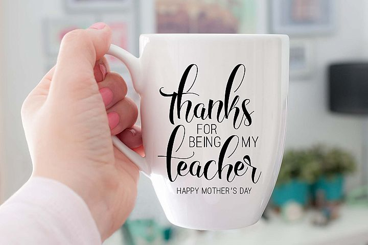 Thanks for being my teacher Happy Mothers Day Printable