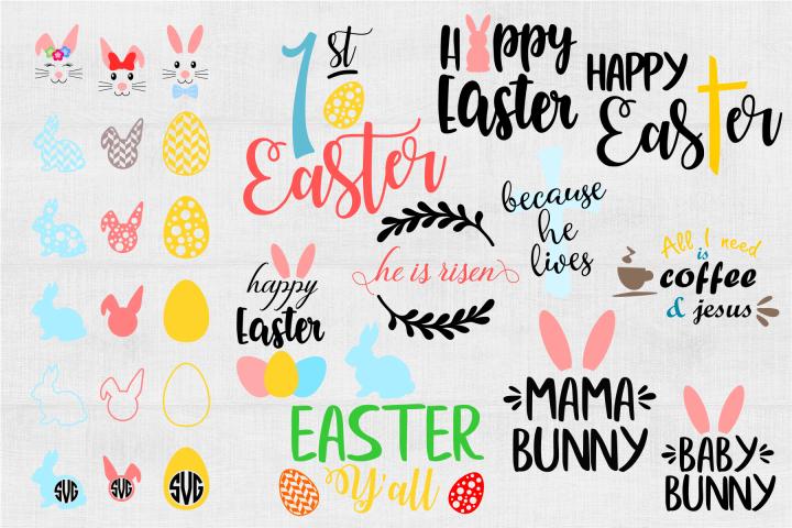 Easter SVG Bundle Easter SVG Easter Bunny SVG Mama Bunny SVG