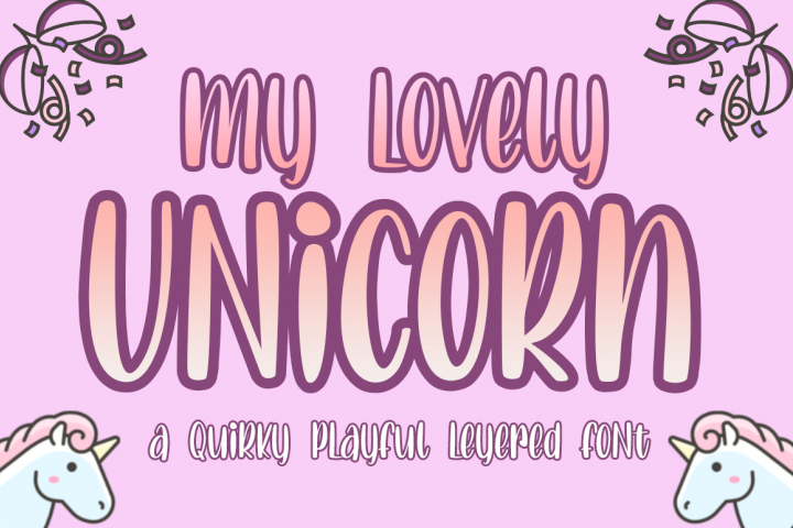 Lovely Unicorn the Quirky Playful Font