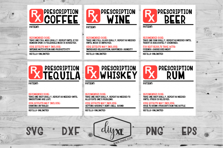Prescription Label Bundle - A Collection of Funny SVGs