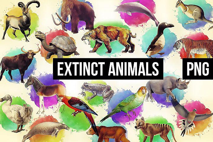 18 Extinct Animals Illustration Images
