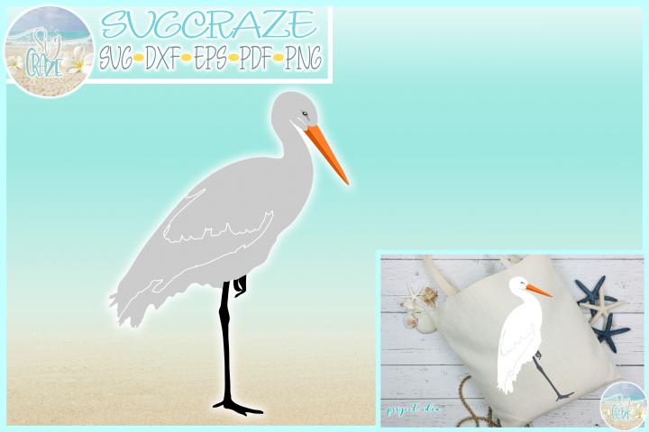 Stork SVG Dxf Eps Png PDF