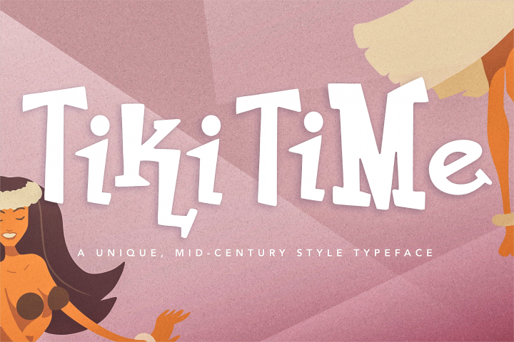 Tiki Time Font Collection