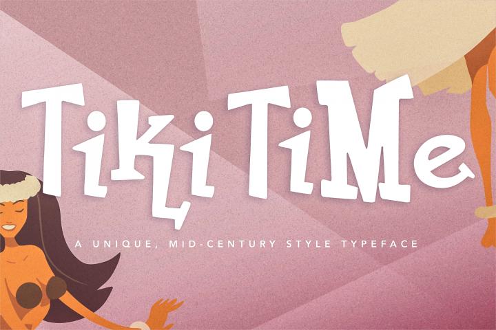 Tiki Time Font Collection