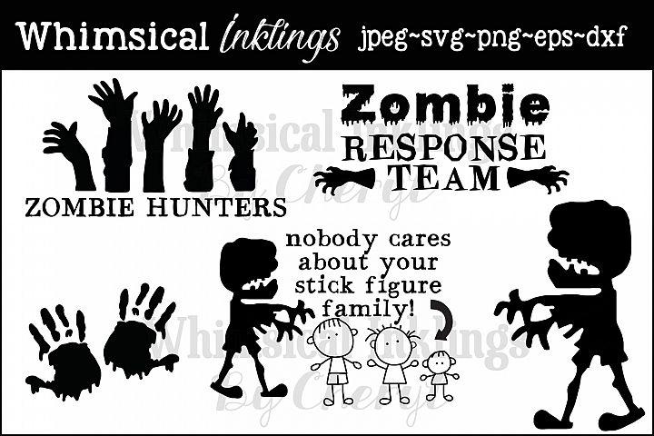Zombie Hunters SVG Files