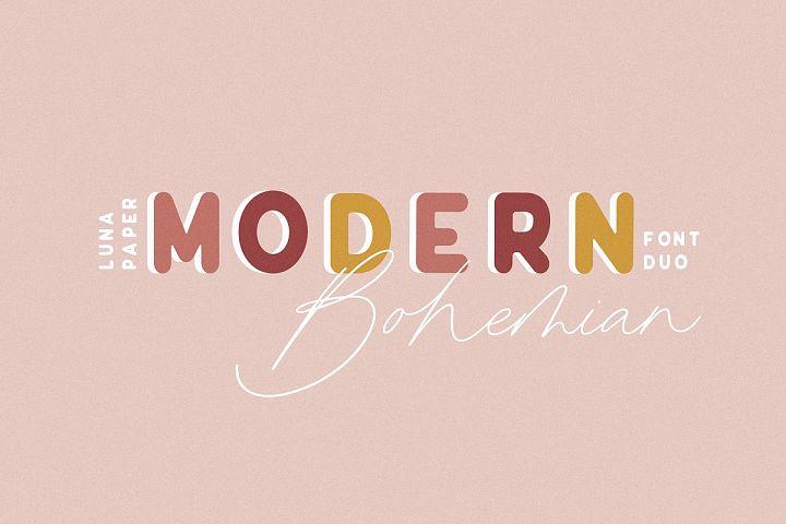 Modern Bohemian Font Duo