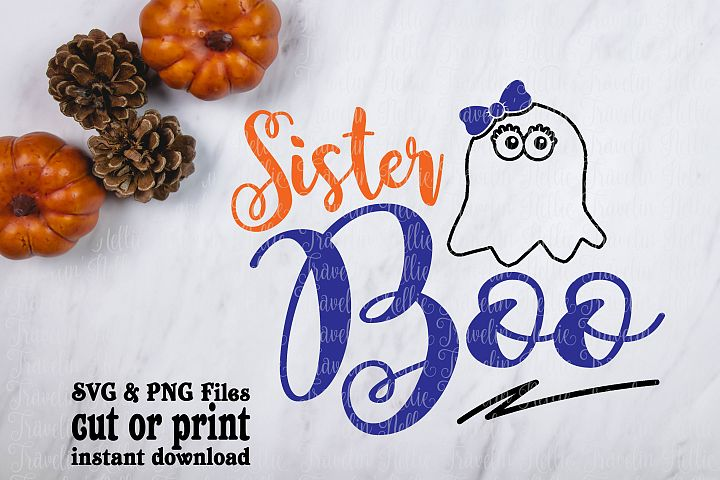 Sister Boo SVG Halloween Funny Ghost Image Girls Cut File