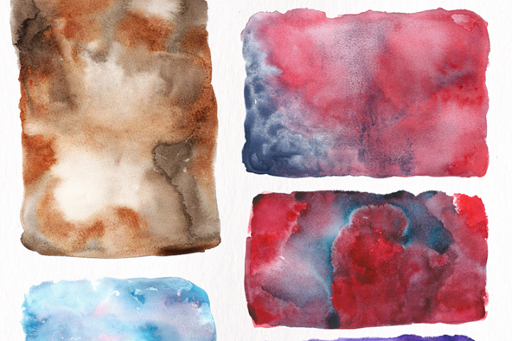 Watercolor Textures - card edition - Free Design of The Week Design 1