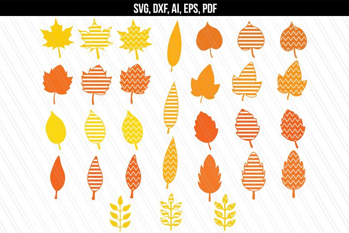 Autumn Fall leaves svg / dxf cutting files