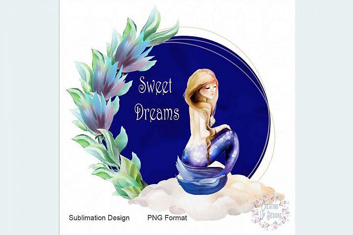Sweet Dreams Mermaid Digital Download PNG