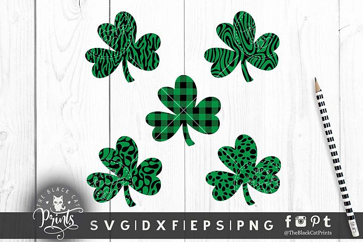 Shamrock Clover Clipart SVG DXF EPS PNG