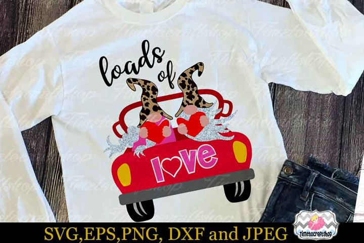 Valentine Gnome, Loads of Love, Valentine Love Car