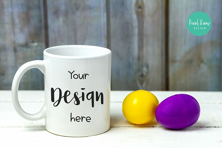 White Coffee Mug Mock-Up | Easter