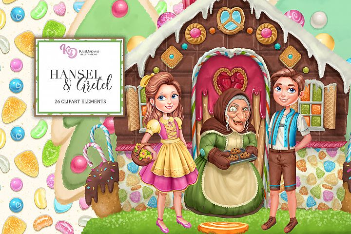 Hansel and Gretel Clipart Elements