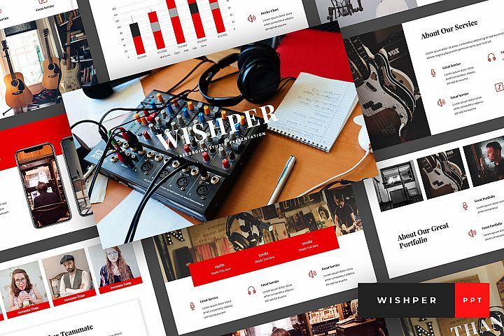 Whisper - Recording Studio PowerPoint Template