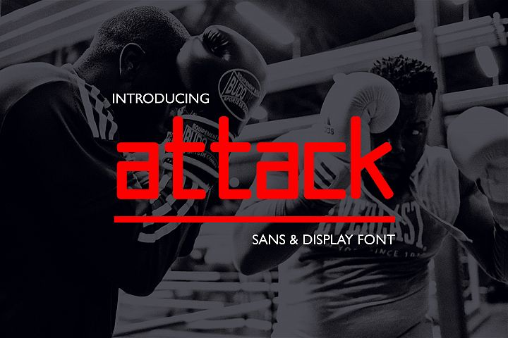 Attack // Display & Sans Font