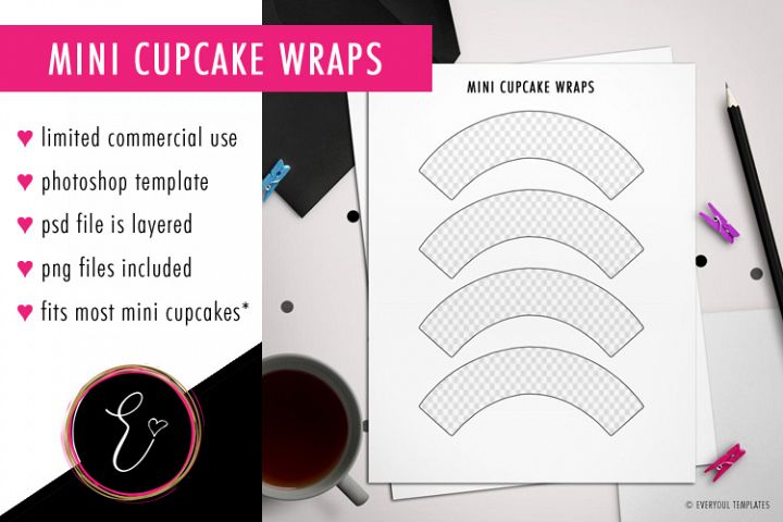 Design Your Own Mini Cupcake Wrappers