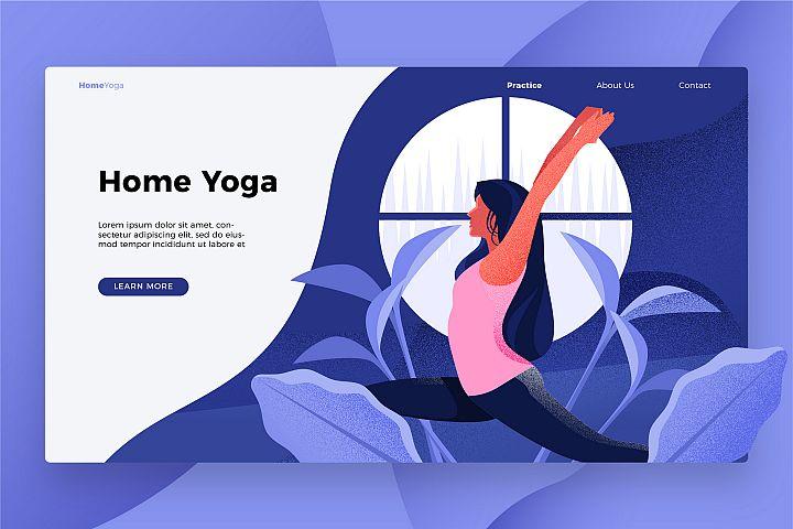 Home Yoga - Banner & Landing Page