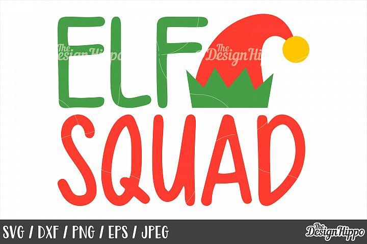 Christmas, Elf Squad SVG, Elf Hat, Crew, PNG, DXF, Cut Files