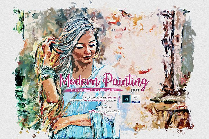 Modern Painting Pro - Photoshop Action
