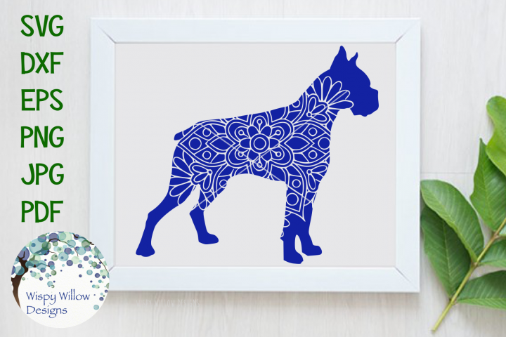 Boxer Dog | Animal Mandala SVG