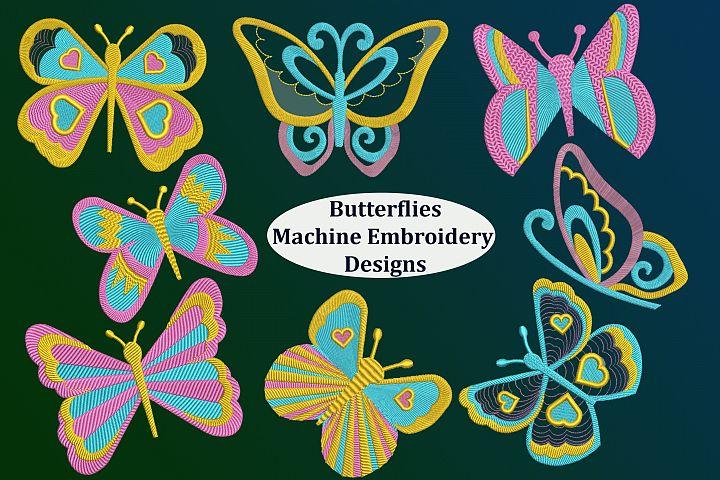 8 Butterflies Machine Embroidery designs