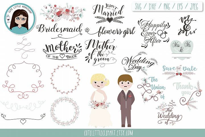 Wedding svg bundle | Quotes, bride, groom, bridesmaid