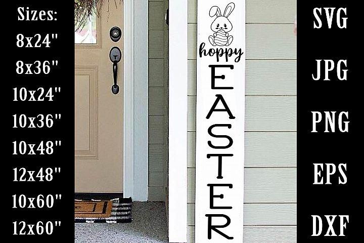 Hoppy Easter Porch Sign SVG EPS PNG Porch Vertical Sign SVG