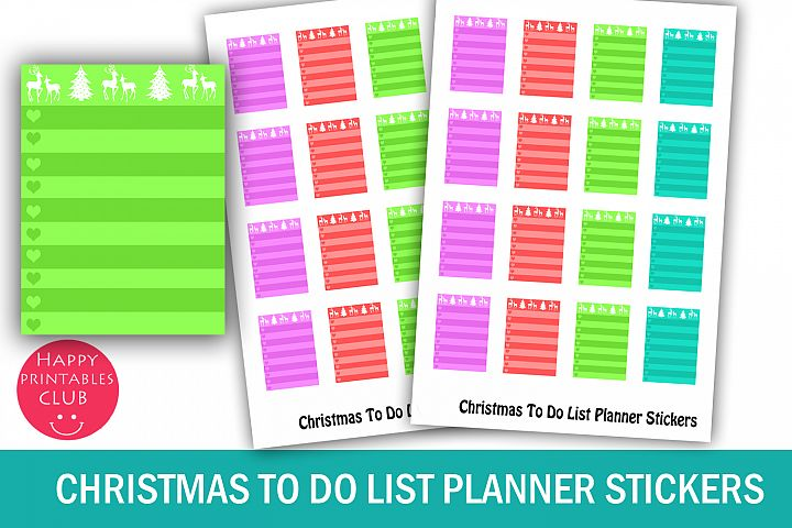 Christmas To Do List Planner Stickers-Christmas Stickers