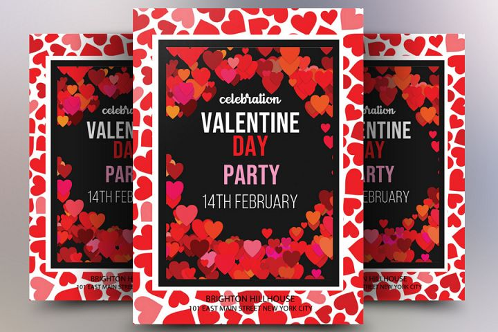 Valentines Day Template Flyer