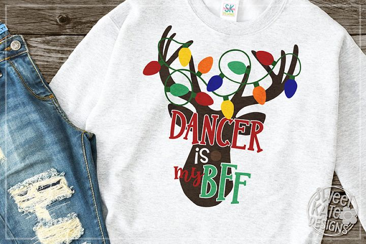 Dancer is my BFF SVG DXF EPS PNG JPG