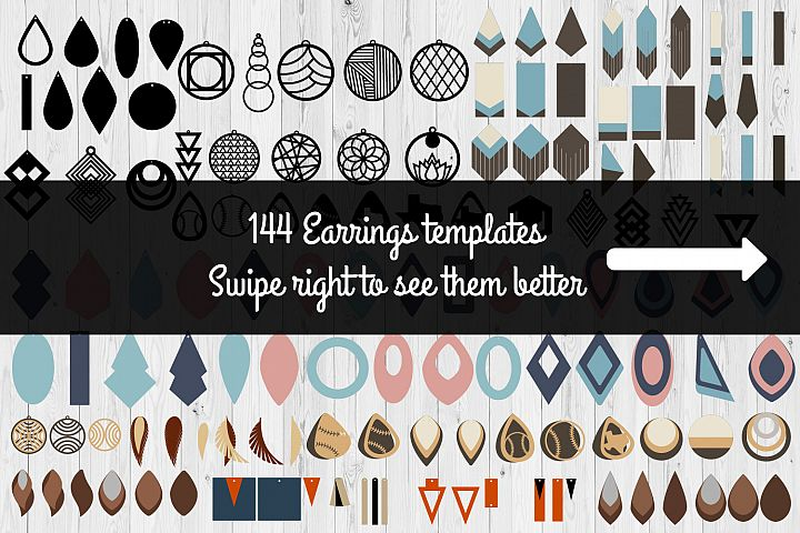 Earrings Templates Humble Bundle | SVG Cut Files |