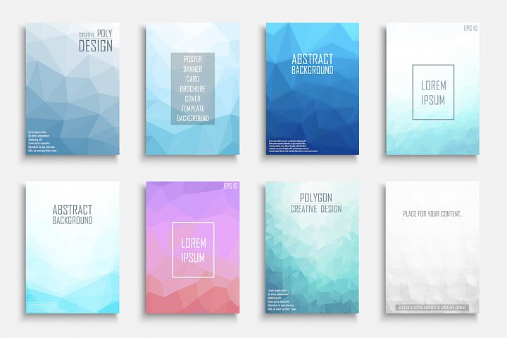 Colorful abstract polygonal covers