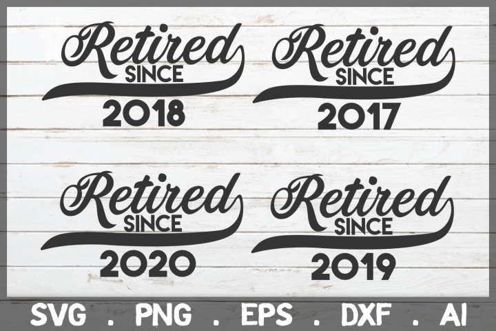SALE! Retired Since 2019, retirement SVG Cut File