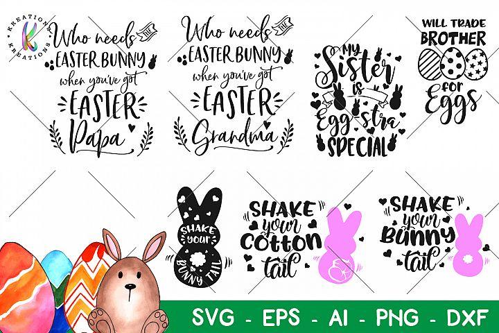 Easter bundle svg Happy Easter Pack svg Brother Sister papa